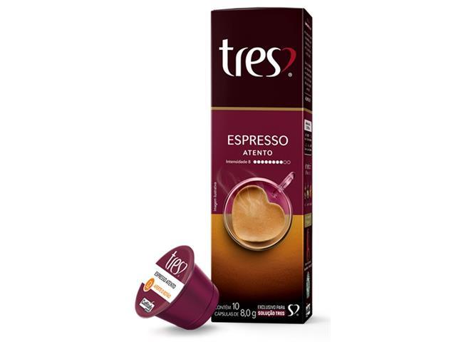 Cápsulas Três Corações Café Espresso Atento
