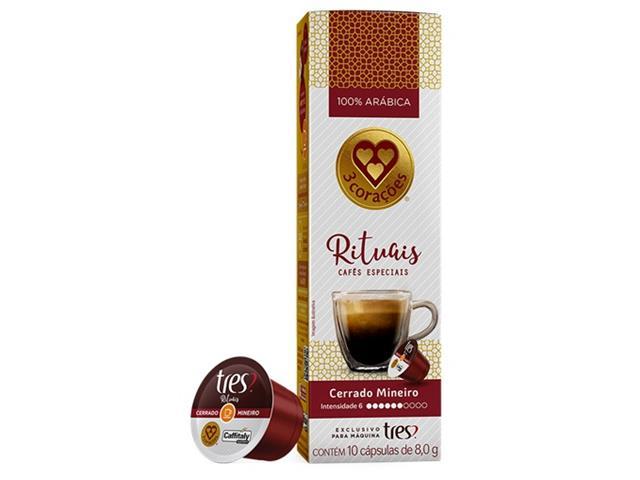 Cápsulas Três Corações Café Espresso Rituais Cerrado Mineiro