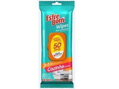Pano Umedecido para Cozinha Bettanin EsfreBom Wipes 50 Panos
