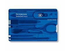 SwissCard Victorinox Classic Translúcido Azul - 1