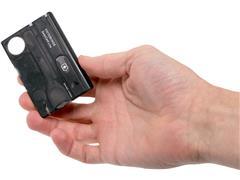SwissCard Victorinox Lite Translucido Preto - 2