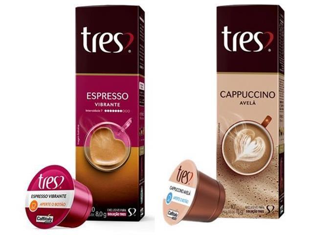 Combo 20 Cápsulas Três Corações Espresso Vibrante e Cappuccino Avelã
