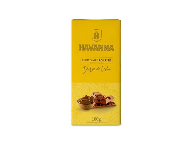 Barra de Chocolate ao Leite Havanna com Recheio de Doce de Leite 100g