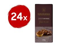 Combo Havanna 24 Barras de Chocolate Meio Amargo com Doce de Leite