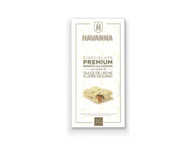 Combo Havanna 12 Barras de Chocolate Branco Premium com Doce de Leite