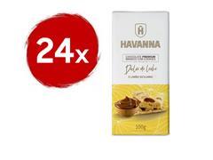 Combo Havanna 24 Barras de Chocolate Branco Premium com Doce de Leite