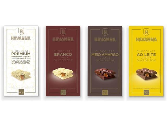 Combo Havanna Mix de Barras de Chocolate com 12 Unidades