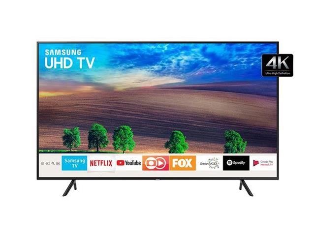 "Smart TV LED 55"" Samsung Ultra HD 4K HDR c/Conv.TV Digital 2 HDMI 1USB"
