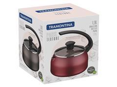Chaleira Tramontina Paris Texture Antiaderente Vermelho 1,9 Litros - 1