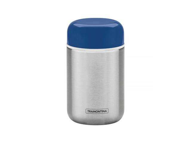 Pote Térmico Tramontina em Aço Inox com Tampa Azul 400ML