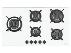 Cooktop a Gás Tramontina Penta SidePlus Vidro Branco Automático 5 Boca - 1