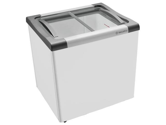 Freezer Horizontal com tampa de vidro 200 litros Metalfrio