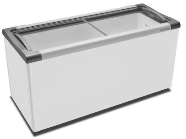 Freezer Horizontal com tampa de vidro 400 litros Metalfrio