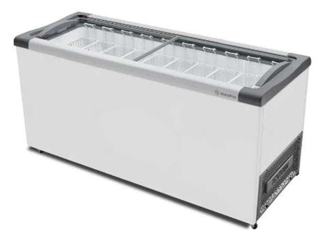 Freezer Horizontal com tampa de vidro 550 litros Metalfrio