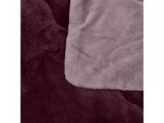 Edredom Buettner Queen Plush Flanel Dupla Face Rosé - 2