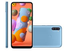 """Smartphone Samsung Galaxy A11 64GB 4G 6.4"""" Tripla Câm 13+5+2MP Azul - 1"""