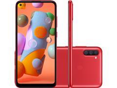 "Smartphone Samsung Galaxy A11 64GB 4G 6.4""Tripla Câm 13+5+2MP Vermelho"