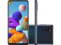 "Smartphone Samsung Galaxy A21s 64GB 4G 6.5"" QuadCâm 48+8+2+2MP Preto"