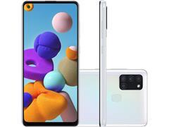 "Smartphone Samsung Galaxy A21s 64GB 4G 6.5"" QuadCâm 48+8+2+2MP Branco - 1"