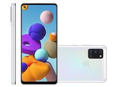 "Smartphone Samsung Galaxy A21s 64GB 4G 6.5"" QuadCâm 48+8+2+2MP Branco - 0"