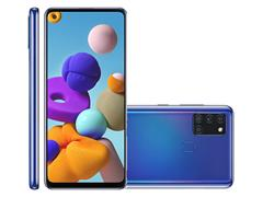 "Smartphone Samsung Galaxy A21s 64GB 4G 6.5"" QuadCâm 48+8+2+2MP Azul - 1"