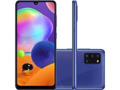"Smartphone Samsung Galaxy A31 128GB 4G 6.4"" QuadCâm 48+8+5+5MP Azul"