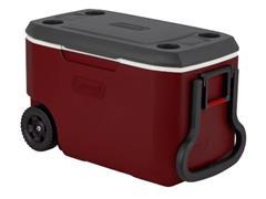 Caixa Térmica com Rodas Coleman Mahogany Vermelha 58 Litros - 1