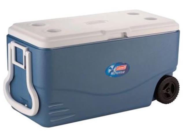 Caixa Térmica com Rodas Coleman Xtreme Azul 95 Litros