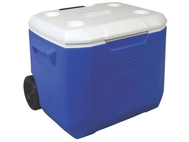 Caixa Térmica com Rodas Coleman Azul 56 Litros
