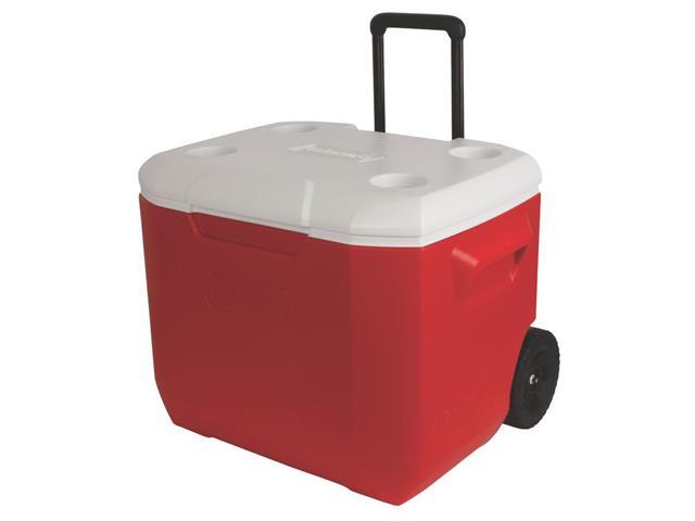 Caixa Térmica com Rodas Coleman Vermelha 57 Litros