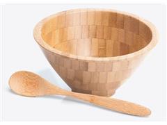 Cumbuca em Bambu com Colher 18CM 400ML