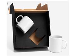 Kit de Canecas em Cerâmica Branca 270ML