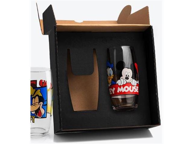 Jogo de Copos de Vidro Mickey e Amigos 300ML