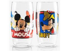 Jogo de Copos de Vidro Mickey e Amigos 300ML - 1
