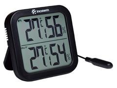 Termo Higrômetro Digital Incoterm Temperatura Interna Externa Preto