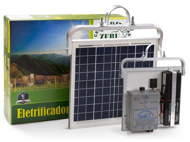 Eletrificador de Cerca Solar Zebu ZS50IBI com Bateria