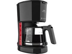 Cafeteira Elétrica Cadence Urban Pop Vermelha e Preta 1,2 Litros