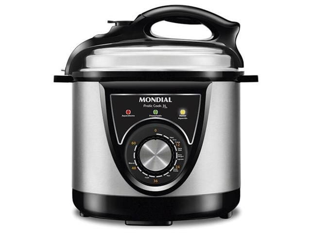Panela de Pressão Elétrica Mondial Pratic Cook 3 Litros