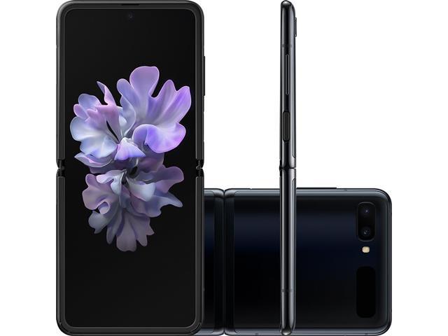 "Smartphone Samsung Galaxy Z Flip 256GB 8GB RAM 6.7"" Câm 12+13MP Preto"