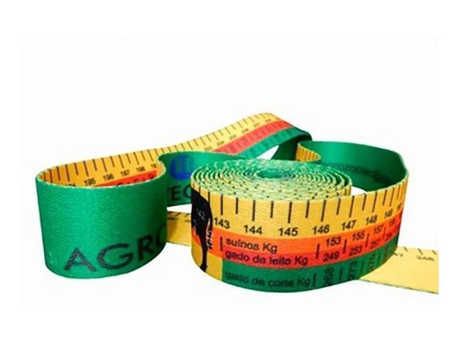 Kit com 30 Fitas para Medir Peso Animal Agrozootec Bovio e Suíno
