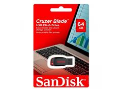 Pen Drive SanDisk Cruzer Blade Preto 64GB