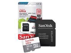 Cartão de Memória SanDisk 80MB/s Micro SD 16GB