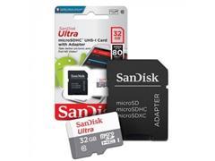 Cartão de Memória SanDisk 80MB/s Micro SD 32GB