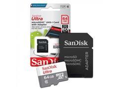Cartão de Memória SanDisk 80MB/s Micro SD 64GB