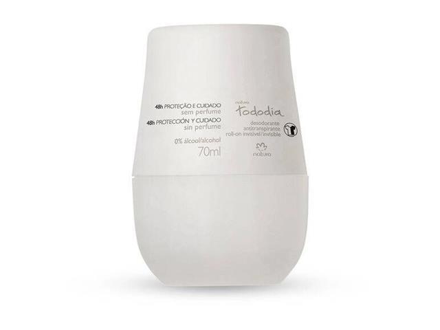 Desodorante Antitranspirante Creme Natura Tododia Sem Perfume 70ml
