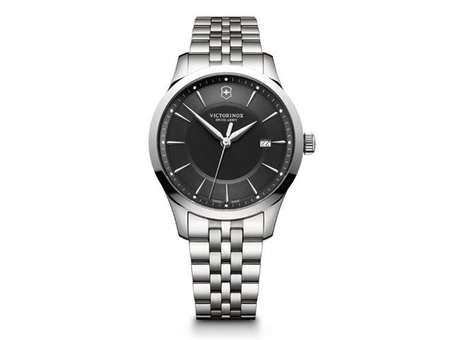 Relógio Victorinox Alliance Prateado fundo Preto