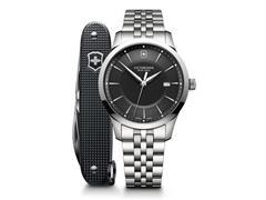 Relógio Victorinox Alliance com Canivete Exército Suíço Pioneer Preto