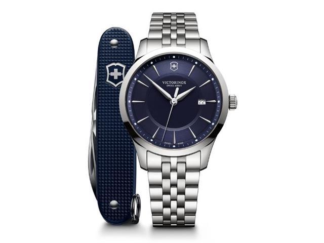 Relógio Victorinox Alliance com Canivete Exército Suíço Pioneer Azul