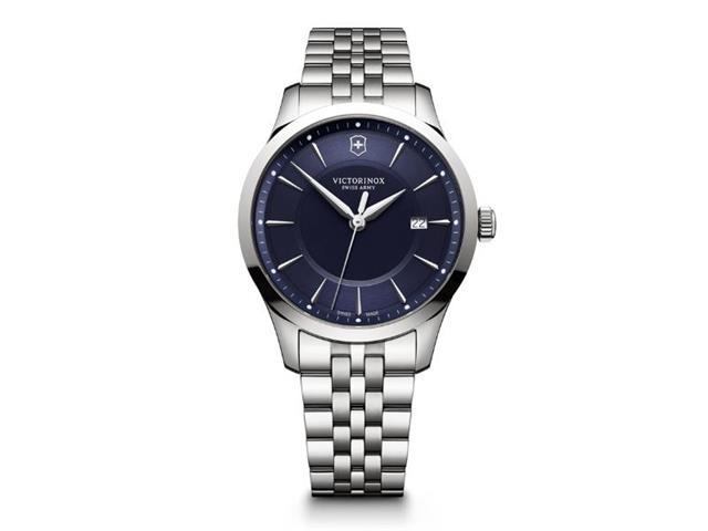Relógio Victorinox Alliance Prateado fundo Azul