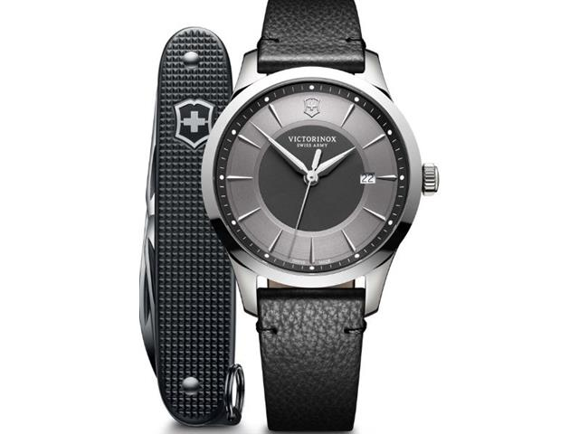 Relógio Victorinox Alliance Preto com Canivete Exército Suíço Pioneer